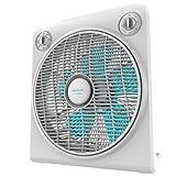 Cecotec EnergySilence 6000 PowerBox Ventilador de Suelo. 5 aspas. 50W. 3 velocidades. Motor de Cobre. con regilla Rotatoria. Temporizador de 2h