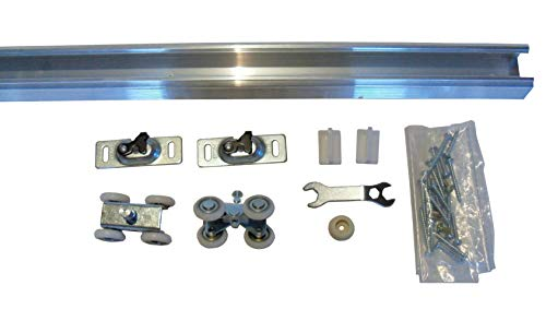 Series 1 - Heavy Duty Pocket Door Kit with Pre-Cut Track and Hardware (30 inch Door- Track Size- 56 3/4 inches)