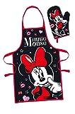 Javoli Disney Minnie Mouse - Grembiule da cucina e guanto a manopola