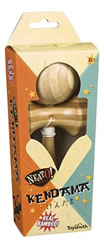 Neato! Classics by Toysmith Bamboo Kendama Juggling Skill Toy (7-Inch), Multi