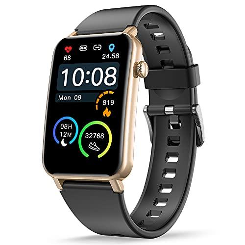 CatShin Reloj Inteligente Hombre, Relojes Inteligentes Mujer Impermeable IP68,Smartwatch Notificaciones Inteligentes,Pulsera de Actividad Inteligente con 6 Deportes,Pulsómetro,Sueño,iOS y Android