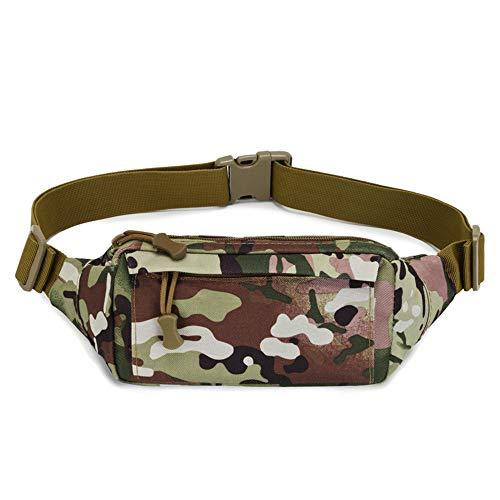 RUNYN Multifunktionale Outdoor Wasserdichte Hüfttasche Herren Tarnung à une seule épaule Diagonale Tasche, für Laufen, Wandern, Reisen und Shoppen