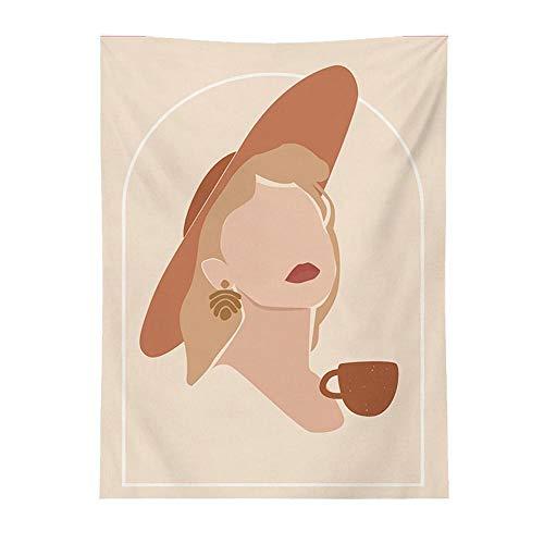 Tapiz colgante de pared de arte nórdico geométrico para mujer impreso en 3D tapiz de luna para el hogar INS decoración de pared para el hogar tela de pared decoración de Mandala 150x100cm