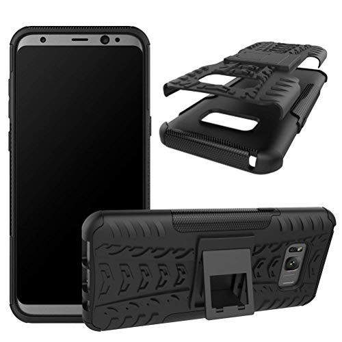 Capa Capinha Anti Impacto Para Samsung Galaxy S8+ Plus Tela6.2Case Armadura Hybrid Reforçada Com Desenho De Pneu - Danet (Preto)