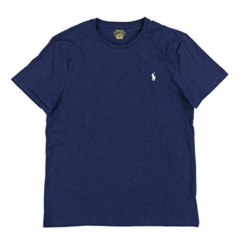 Polo Ralph Lauren Mens Custom Slim Fit Crew Neck T-Shirt (L, Spring Navy)