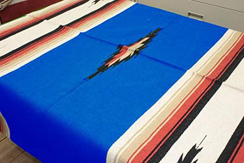 RUG&PIECE エルパソ サドル ブランケット Native Mexican Rug ネイティブ柄 メキシカン ラグ マット 215cm×145cm bl