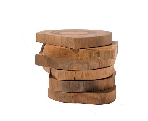 hashcart wunderschönen handgefertigt Dampf Buche Holz Untersetzer für Home & Décor/Küche–Set von 6