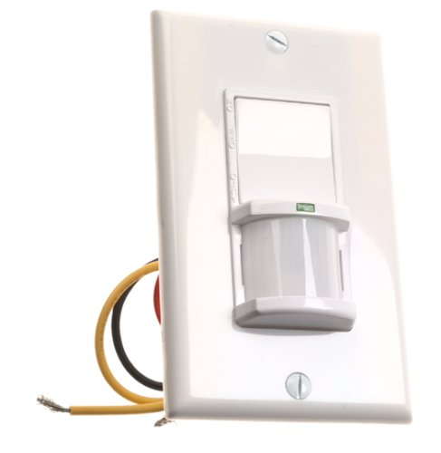 motion activated light controls Leviton 612-6793-W Wide View 3-Way Motion Activated Light Controls