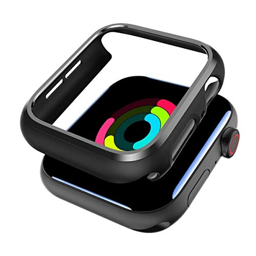 SPORTLINK Apple Watch Funda, Rugged Armor Bumper para iWatch Apple Watch Series 6 / SE/Series 5 / Series 4 44mm Case (2 Unidades - Negro)