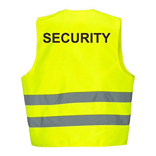Fassbender-Druck korntex / Fassbender-Druck Warnweste GELB Sicherheitsweste Weste Security (Security 10er Paket)