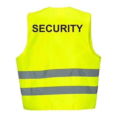 Warnweste GELB Sicherheitsweste Weste Security (Security 5er Paket)
