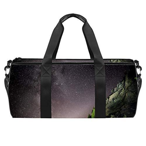 Gregory Hayes Sports Gym Bag Cylindrical Travel Duffel bag with Wet Pocket Lightweight workout bag Travel with Shoulder Strap for men women