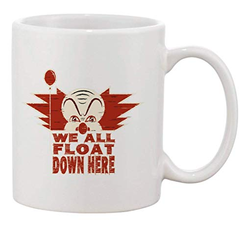 N\A Taza de café de cerámica Todos flotamos aquí Miniserie Libro Película Parodia
