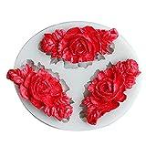 AAKK Molde De Pastel De Silicona De Flores 3D DIY Fondant Cake Decoración De Chocolate Herramientas para Hornear