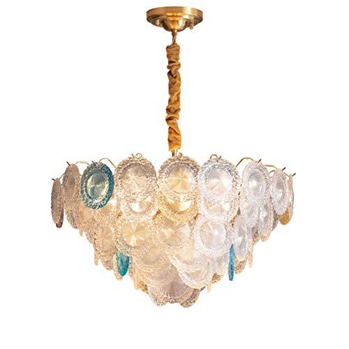 Lampadari Tutto lampadario di cristallo di lusso di lusso in rame Lampadario Post-moderno Lampada da soggiorno in stile Bohemian Sala da pranzo Lampada da camera da letto