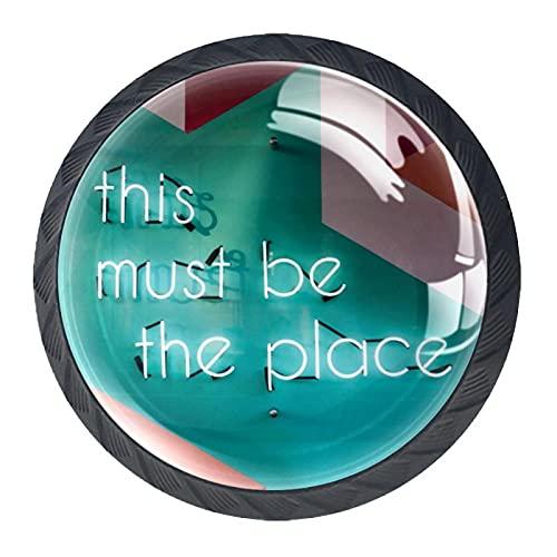Lådhandtag dra dekorativa skåpknoppar byrå låda handtag 4 st, detta måste vara platsen