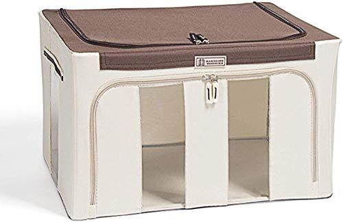 Caja de almacenamiento Ropa de gran capacidad Almacenamiento de ropa Ropa Hoja de lecho Manta Almohada Zapato Bolsa de almacenamiento, Hermosa y grande capacidad-Blanco crema