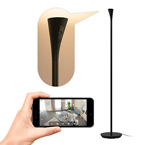 Best Price! Panasonic Homehawk Floor Lamp Camera with Wide Angle, Ambient Light, Motion Detection, 1...