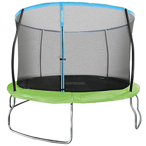 Aktive 54085 - Cama elástica infantil exterior, Colchoneta saltar niños, medidas 366 x 266 cm, peso máx 100 kg, +6 años, tiempo de montaje 2 h