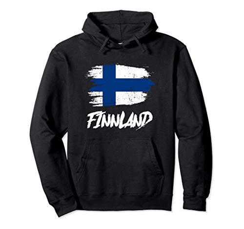 Finnland Flagge Finland Finnische Fahne Geschenk Pullover Hoodie