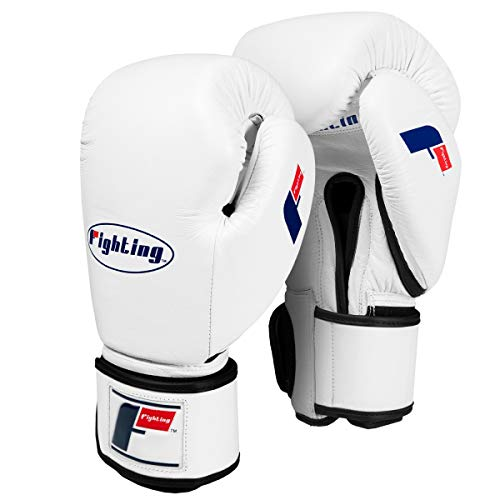 Fighting Sports Fury Professional Training Gloves, White, 16 oz