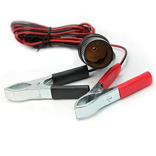 Cigarrillos Cable de enchufe del divisor de extensión con la batería cocodrilo pinzas (pinzas de la batería) 150cm 12v terminal de la batería con clip encendedor del coche adaptador de enchufe hembra