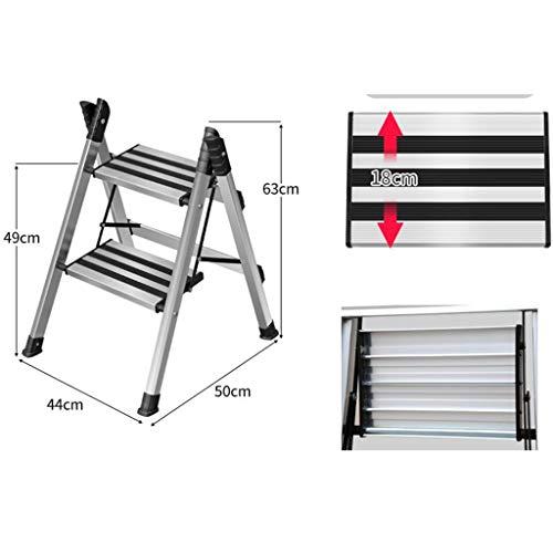 CDSL Escalera Plegable 2-Step / 3-Step / 4-Paso Escalera de Aluminio, Plegable...