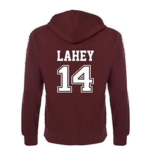 Beacon Hills Stilinski Lahey McCall Lacrosse Hoodie – Teen Wolf Hooded Sweatshirt Sports Burgundy Colour