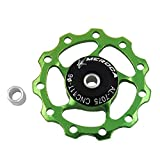 roldanas Cambio MTB desviador Trasero Bicicleta Teniendo polea Rueda de Bicicleta de 13T Cambio de Marchas de 13T Rueda de Bicicleta de 13T Green,1