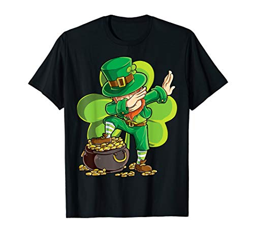 St Patricks Day Dabbing Leprechaun Boys Kids Men Gifts Dab T-Shirt