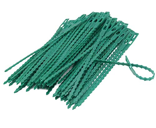 SUPEROK 100Pcs Garden Cable Ties,Reusable, Adjustable Garden Plant Twist Ties Flexible Cable Plastic Support,Gardening Straps Plastic Zip Buckles For Organizing Wires, Home, Garden & Office