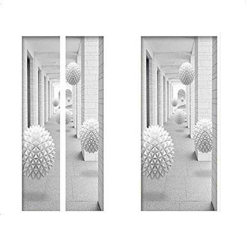 Aeromdale Wasserdichter 3D-Tür-Aufkleber, selbstklebend, dekorativ, für Schlafzimmer, Wohnzimmer, 3D-Gang.