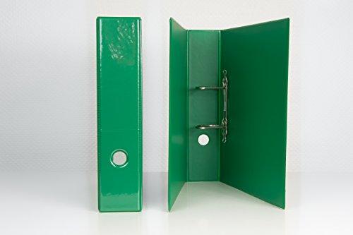 DIN A 4 Präsentations - Ordner in grün 65 mm breit aus deutscher Produktion