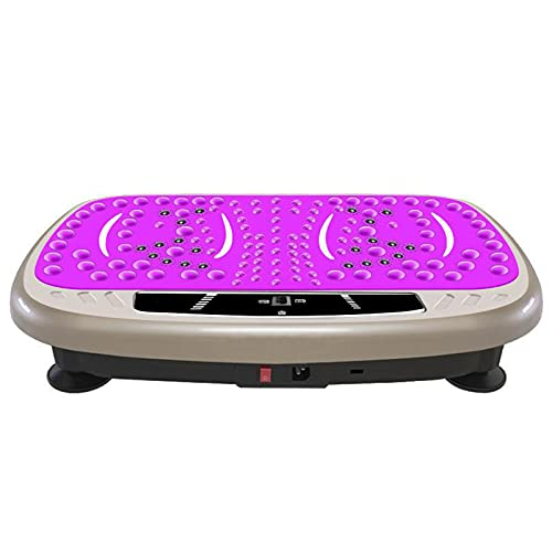Plataformasvibratorias3D | Perder Grasa Y Tonificar En Casa | 3 Programas + 99 Niveles | Plataforma Vibratoria Ultra Slimadelgazar Design | Fácil Almacenamien(Color:Pink 3D Vibration Plate Machine)