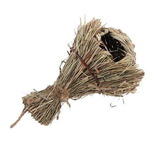 VANKOA Vogelnest Vogelhaus Vogelhäuschen Nistkasten Zum Aufhängen Nisthaus Käfig Stroh Meisenkasten Papageiennest für Sittiche Kanarienvogel - A: Bothy