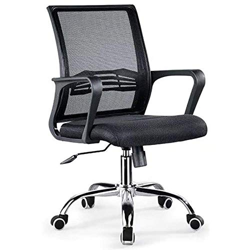 WSDSX Office Chairs, 90°-125° Adjustment Task Chair Streamlined Handrail Computer Ergonomic Chair Adjustable and Rotating Swivel Office Essentials Chair