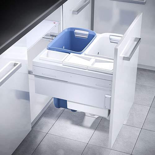 HAILO 3270611 Laundry Carrier 600 mit synchronisiertem Überauszug/TIDY 4-fach Wäschebehälterauszug/Wäschebox/Wäschekorb