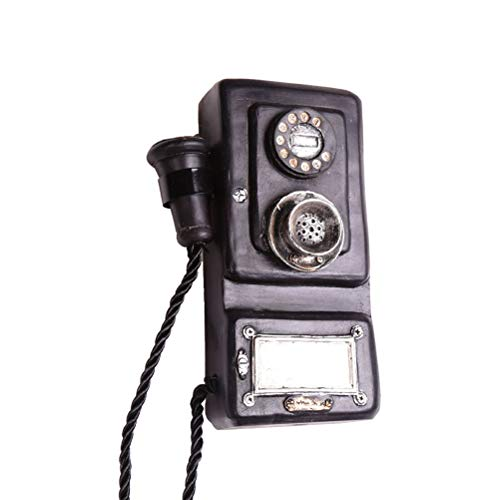 VOSAREA Retro Vintage Wandtelefon Dekoration Retro Telefon Modell Vintage Telefon Ornamente für Bar Shop Restaurant