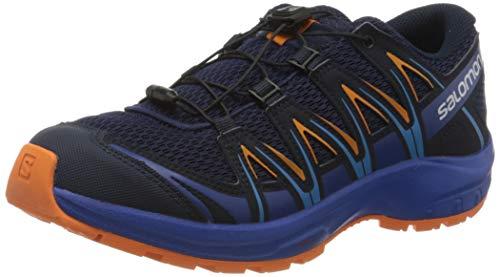 Salomon Kinder Sportschuhe, XA PRO 3D J, Farbe: blau/orange (Medieval Blue/Mazarine Blue Wil/Tangelo), Größe: EU 35