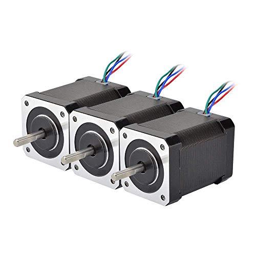 Printer Accessories 3PCS Nema 17 Stepper Motor 60mm 65Ncm(92oz.in) 2.1A 4-Lead Nema17 Step Motor 42BYGH for 3D Printer CNC XYZ Motor 3D Printing Accessories