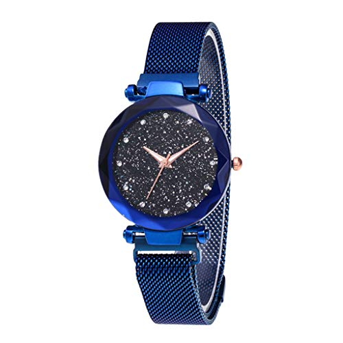 Learn More About Muranba Fashion Watch Star Sky Watch Ladies Magnet Stone Milan Mesh Belt Women's Wa...