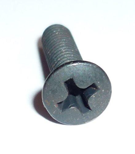 Schraube 50 St M4 x 16 Linsenkopf, Kreuzschlitz, schwarz brüniert