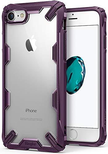 Ringke Fusion-X Compatibile con Cover iPhone SE 2020, iPhone 8 e iPhone 7 Custodia Antiurto Protettiva Paraurti - Lilac Purple
