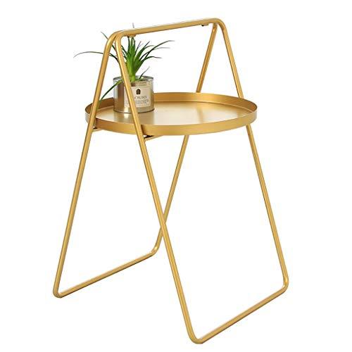 Petite table basse Petite table basse Iron art Petite table ronde Nordic Simple/salon/canapé/côté/coin (Couleur : A)