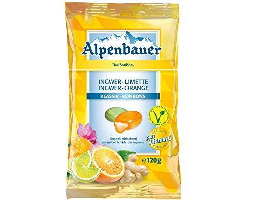 Alpenbauer Klassik Ingwer Orange Ingwer Limette Bonbons 120g