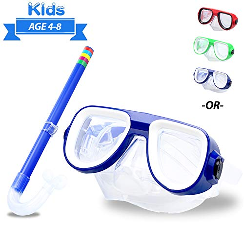 Kids Snorkel Set Junior Snorkeling Gear Kids Silicone Scuba Diving Snorkeling Glasses Set Snorkel Equipment for Boys and Girls