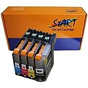 4 XL Ersatz Chip Patronen kompatibel zu Brother LC-223 LC-225 LC-227 XL - Nur bis Firmware Version E - BK Schwarz, C Cyan, M Magenta, Y Gelb für Brother DCP-J4120DW, MFC-J4420DW, MFC-J4425DW, MFC-J4620DW, MFC-J4625DW, MFC-J5320DW, MFC-J5620DW, MFC-J5625DW, MFC-J5720DW