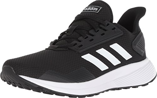 adidas Men's Duramo 9 Running Shoe, Black/White, 13 M US