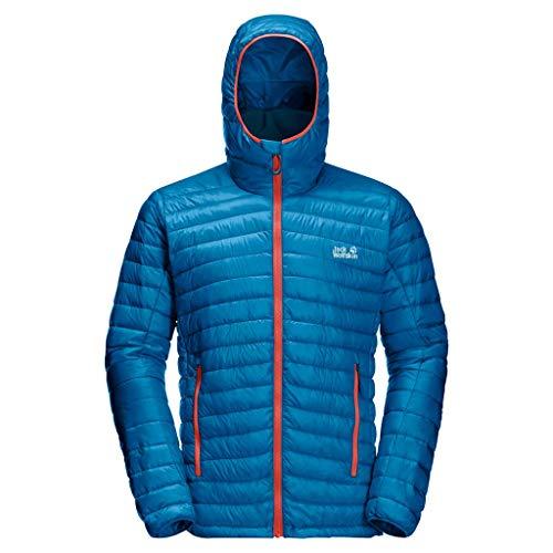 Jack Wolfskin Mountain down Jacket Herren Daunenjacke, Blauer Pazifik, XXL