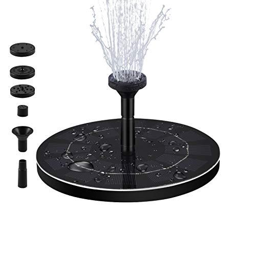 LEDGLE [Version Avancée] Fontaine Solaire Flottante Pompe à Eau Solaire Exterieure pour Bassin,Jardin 1.8W, Débit 180 L/H